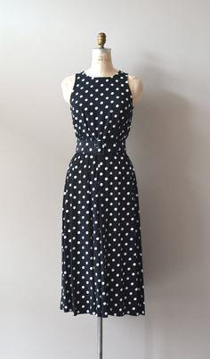 polka dot dress / polka dot 80s dress / Vivian dress by DearGolden, $58.00
