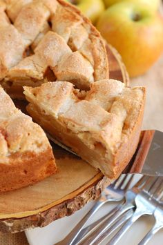 Appeltaart - An easy recipe for Dutch Apple Tart - a cookie crust with a sweet and cinnamony apple filling. (scheduled via http://www.tailwindapp.com?utm_source=pinterest&utm_medium=twpin&utm_content=post61832344&utm_campaign=scheduler_attribution)