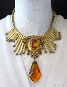 Kay Adams Necklace. Be The Queen Original. Striking. Bold. Beautiful. Understated Drama. Art Deco meets Art Nouveau Cleopatra Mashup. ooak by KayAdams
