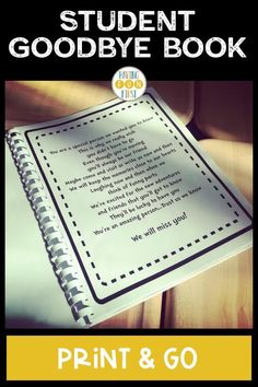 If you have a student that's moving soon or a student teacher is finishing up in your classroom, this print & go student moving book is the perfect way to say goodbye! With editable book covers, letter writing templates, picture pages & more, the student goodbye book allows each student to get a chance to say goodbye. See the previews and what other teachers are saying and grab yours now! Letter Writing Template, Letter Templates, 4th Grade Activities, Teacher Must Haves, Pen Pal Letters, Student Teacher, New Students, Writing Resources, Graphic Organizers