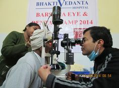 Medical care for the impoverished in India.