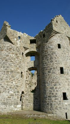 Moneagh Castle ruins County Fermanagh, Northern Ireland.