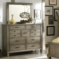 Legacy Classic Furniture Brownstone Village 9 Drawer Dresser with Mirror