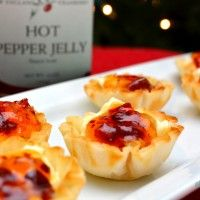 Cream Cheese Pepper Jelly Phyllo Cups