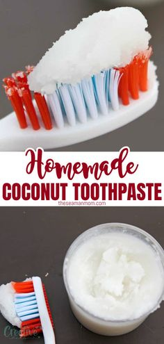 This homemade coconut oil toothpaste recipe is simple and fun to prepare and also much safer and healthier for your teeth. Perfect product to add to your selfcare and beauty arsenal if you're looking to lead a greener lifestyle! #easypeasycreativeideas #toothpaste #DIY #homemade #beauty Coconut Oil Toothpaste, Toothpaste Recipe, Homemade Toothpaste, Crafts To Make And Sell, Easy Crafts For Kids, Homemade Coconut Oil, Homemade Soaps, Homemade Beauty, Diy Beauty