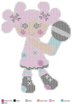 Sew Sweet Doll with Microphone - Plastic Canvas