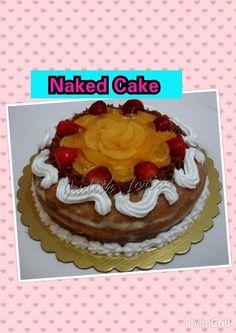 Naked Cake, crema pastelera, arequipe y melocotones.