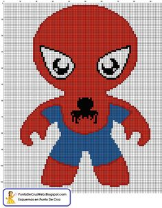 Punto De Cruz: Super Heroes Spiderman