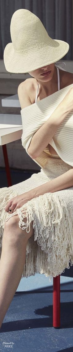 Rosetta Getty Resort 2017 Wooly Bully, Crazy Hats, Resort 2017, Coffee Colour, Wide-brim Hat, Party Dresses For Women, Light Beige, Winter White, What I Wore