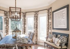 Rustic Farmhouse Breakfast Area Reveal - Before And After + A New Light Fixture - Worthing Court