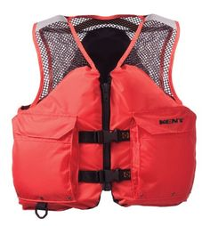 Kent Mesh Deluxe Commercial Life Vest  Persons over 90Pounds Orange XLarge 4448Inch Chest -- More info could be found at the image url.Note:It is affiliate link to Amazon.