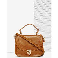 Farrah Crossbody Bag ($58) ❤ liked on Polyvore featuring bags, handbags, shoulder bags, shoulder handbags, white shoulder bag, crossbody shoulder bags, top handle handbags and white crossbody