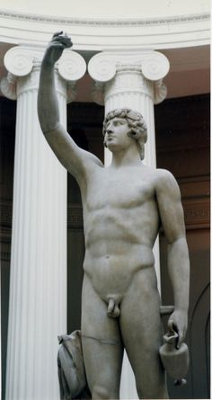Antinous (also Antinoos; Ancient Greek: Ἀντίνοος; 27 November, c. 111 – before 30 October 130) was a Bithynian Greek youth and a favourite of the Roman emperor Hadrian. He was deified after his death, although his exact status in the Roman pantheon was uncertain. He had become the favourite of Hadrian by 128, when he was taken on a tour of the Empire as part of Hadrian's personal retinue. (Villa Adriana, Tivoli, Italy)