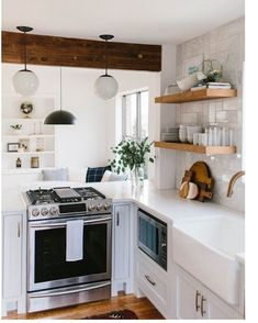 """2,209 Likes, 62 Comments - 🌿c r y s t a l (@crystalanninteriors) on Instagram: """"Addressing a question I get asked a lot, where is your range hood and why don't you have one? We…"""""""