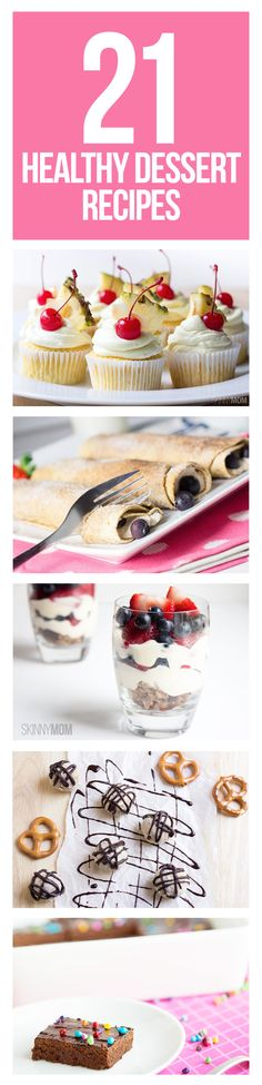 Need a lightened-up sweet treat? Try these delicious recipes!