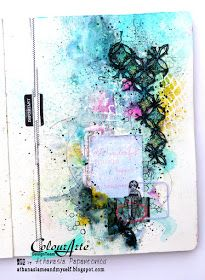 Me and myself...: art journal page with video tutorial