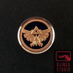 Zelda Plugs Hyrule Crest Triforce 1inch to 2inch by OjingoStudio, $29.95