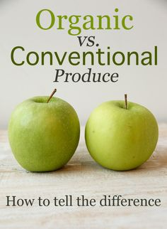 Organic vs. Conventional Produce:  How to tell the difference!  (An easy rule of thumb...)