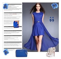 """""""Blue :)"""" by aminahadzic5 ❤ liked on Polyvore featuring mode, Arche en MICHAEL Michael Kors"""
