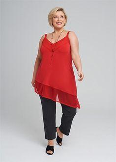 Kledingtips voor de kleine vrouw met een grote maat. Personal Style, Tunic Tops, Plus Size, Apple, Lifestyle, Elegant, Crochet, Sexy, Outfits