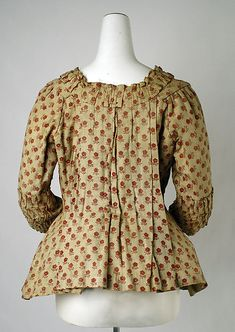 Caraco (image 3) | Belgian | 18th century | cotton | Metropolitan Museum of Art | Accession #: C.I.38.5.1
