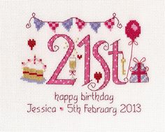 21st Birthday Sampler Kit - Nia Cross Stitch