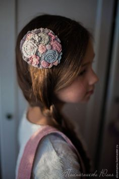 """Купить Заколка """"Розовые мечты"""" - бледно-розовый, заколка, заколка для девочки, бохо, бохостиль, мори"""