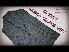 How to Crochet a Granny Square Vest (Heklani prsluk) - YouTube
