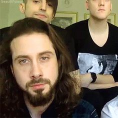 I just realized that Avi's hair is almost, if not as long, as mine.