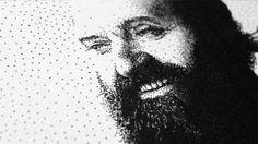 Arvo Pärt Pen Pointillism - detail