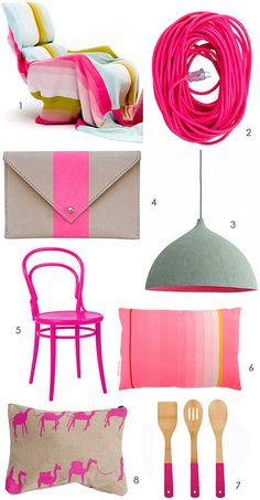 hot pink by the style files, via Flickr
