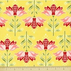 Apple Of My Eye Cotton Fabric - Floral - Yellow - Fashion Fabric