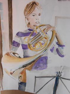 wATERCOLOUR - French Horn