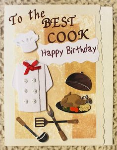 Happy Birthday Card For The Best Cook. 9.00 via Etsy.