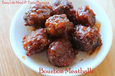 Bourbon Glazed Meatball Appetizer - Easy Life Meal & Party Planning - a scrumptious sweet glaze