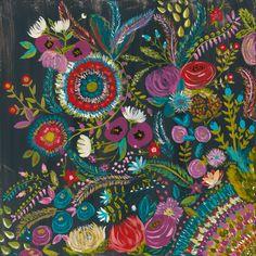 """Midnight Garden"" Original Painting Bari J. Designs"