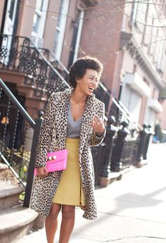 Solange Knowles via Garance Dore. I would love to wear this exactly. And I think the coat is By Malene Birger! Want more by her for sure.