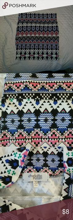 Bundle and Save! Aztec patterned skirt -Bodycon skirt with Aztec patterns Charlotte Russe Skirts Mini