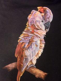 Kakadu malovaný na tričku Cockatoo painted on the T-shirt