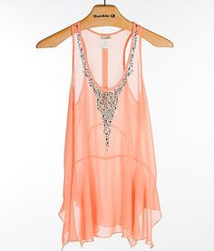'Daytrip Chiffon Trapeze Tank Top' #buckle #fashion www.buckle.com