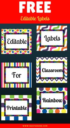 These lovely themed labels are a time-saving must! Perfect for a variety of uses around your classroom or at home. This set of editable labels helps you organize your classroom in the back to school season. Just click and edit the text in the PowerPoint file and then print. Use these templates to create …
