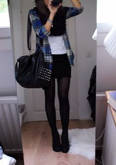 Outfit with plaid shirt