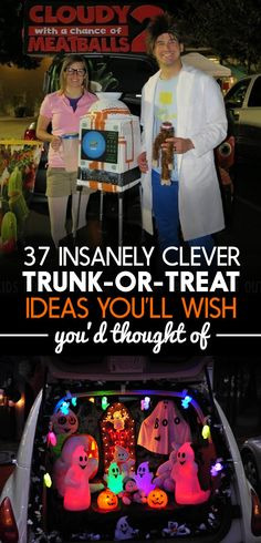 37 Trunk-Or-Treat Ideas That Are Guaranteed To Win Halloween Knock it out of the park(ing lot). Holidays Halloween, Halloween Treats, Fall Halloween, Halloween Party, Halloween Costumes, Halloween Stuff, Happy Halloween, Halloween Door, Halloween Games