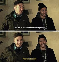 Look at their smiles these dorks I love them so much Buzzfeed Funny, Try Guys, Funny Memes, Hilarious, Ghost Adventures, True Crime, Youtubers, I Laughed, Movie Tv