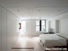 "420 square feet, but it may well be the most famous micro-apartment. It's been called a ""Swiss army knife"" of a dwelling for its compact eff..."