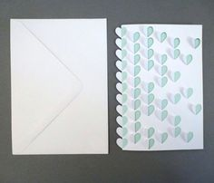 Folded Scattered Hearts Card