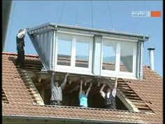 Prefab shed dormer?  German :( Dachgauben Einbau an einem Tag mit SPS Gauben - YouTube
