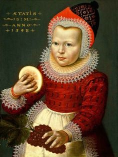 Portrait of a One and a Half Year Old Child, by an anonymous artist, 1598