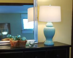 Take the Side Street: An Aqua Lamp Makeover lamp finial......?..