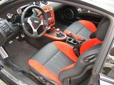hyundai tiburon tuscani red and black interior two tone custom